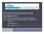 Integrating Healthcare and Housing First - Peightel, Scriber