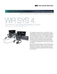 SoundPlus® Language Interpretation System - Williams Sound