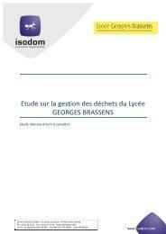 Diagnostic déchets - Lycée Georges Brassens