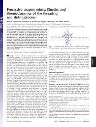 Processive enzyme mimic: Kinetics and thermodynamics of the ...
