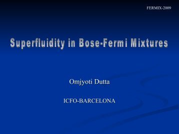 Superfluidity in Bose-Fermi Mixtures - BEC