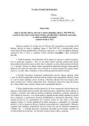 VLÁDA ČESKÉ REPUBLIKY Příloha k usnesení vlády ze dne 20 ...