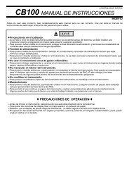 CB100 MANUAL DE INSTRUCCIONES - Cascade