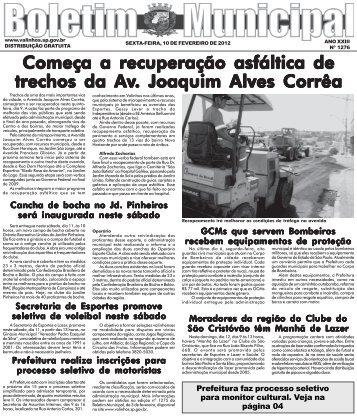 Edição Nº 1276 - Valinhos - Governo do Estado de São Paulo