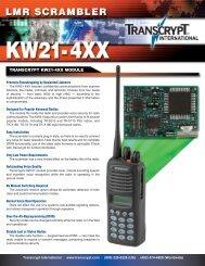 TRANSCRYPT KW21-4XX MODULE - EFJohnson