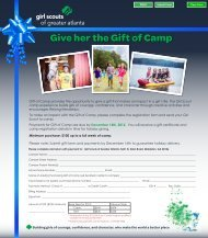 Give her the Gift of Camp - Girl Scouts of Greater Atlanta