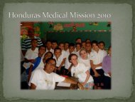 Honduras Medical Mission 2010 - International Orthoptic Association