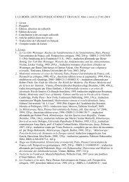 j. le rider. liste des publications et travaux. - Retour à la page Accueil