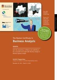 Business Analysis - University of Winnipeg