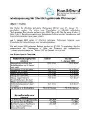 Mietanpassung für öffentlich geförderte Wohnungen - Haus & Grund ...