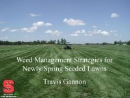 Weed Management Strategies for Newly/Spring Seeded ... - TurfFiles