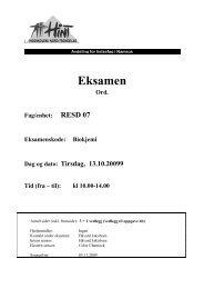 RESD 07 - Biokjemi - 13102009 - Høgskolen i Nord-Trøndelag