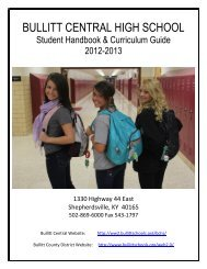 bullitt central high school - Infinite Campus - Bullitt County Public ...