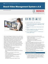 Bosch Video Management System v.4.5 - Bosch Security Systems