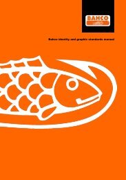 Bahco identity and graphic standards manual - Snap-on