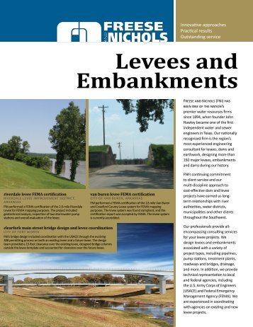 Levees and Embankments - Freese and Nichols Inc