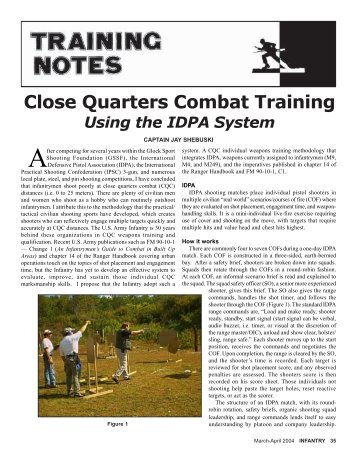 Close Quarters Combat Training - Weaponeer.net