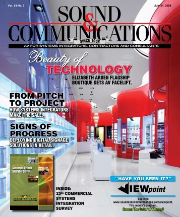 Sound and Communications - July 2008 Issue