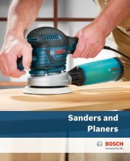 Sanders and Planers - Bosch Power Tools