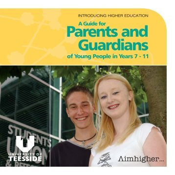 A Guide For Parents And - University of Teesside