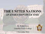 United Nations: An Evolution over Time - Dr. Walter Dorn