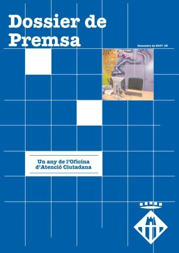 Dossier de premsa OAC - Ajuntament de Vilanova i la Geltrú