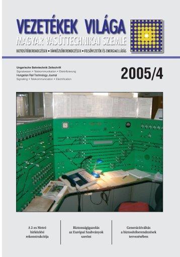 Issue 2005 /4. - MÁV Dokumentációs Központ és Könyvtár