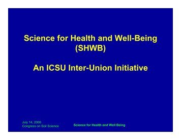 Science for Health and Well-Being - Plant Nutrition Group