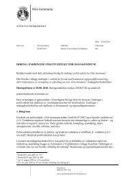 Les hele høringsbrevet (pdf) - Oslo kommune