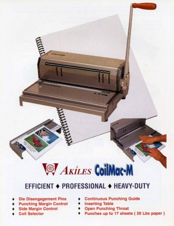 Download AKILES CoilMac-M Spiral Coil Binding Machine Brochure