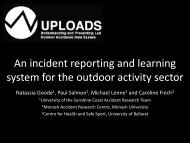 An incident reporting and learning system for the ... - Outdoors Victoria