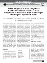 A New Proposal of HAZ Toughness Evaluation Method — Part 1 ...