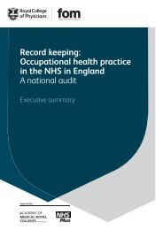 Record keeping audit - Royal College of Physicians