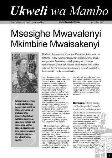 Ukweli 1 newsletter - Kenya Stockholm Blog