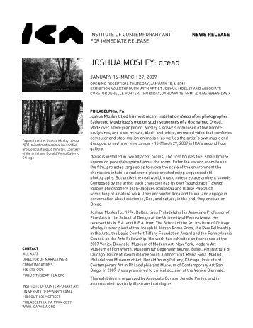 JOSHUA MOSLEY: dread - ICA