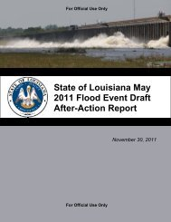 State of Louisiana May 2011 Flood Event Draft After-Action Report