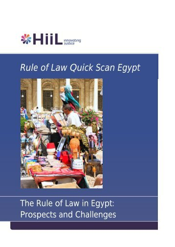 The Rule of Law in Egypt - HiiL