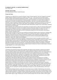 2.ANCORA OLIO E VINO Don Sergio Baravalle ... - Caritas Torino