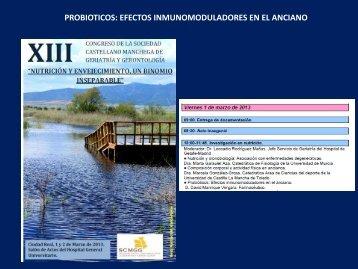 Probioticos: Efectos Inmunomoduladores en el Anciano