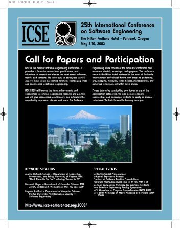 Call for Papers and Participation - International Conference on ...
