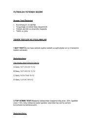 11-Futbolda Yetenek Seçimi - Spor Bilim