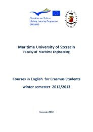 Maritime University of Szczecin - erasmus for incoming students
