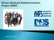 Illinois Medicaid Redetermination Project - State of Illinois