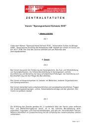 ZENTRALSTATUTEN - Sprengverband Schweiz SVS