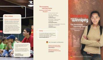 The Innovative Learning Centre Programs - University of Winnipeg