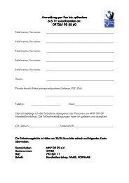 Anmeldung per Fax bis spätestens Anmeldung per Fax ... - Mhv-sw.de