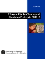 A Targeted Study of Gaming and Simulation Projects in DR K-12