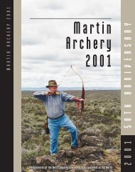 Full Catalog - Martin Archery 2001