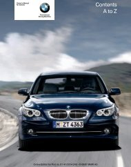 2008 5 Series Owner's Manual - Irvine BMW