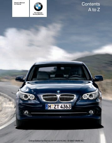 2008 5 Series Owner's Manual - Irvine BMW